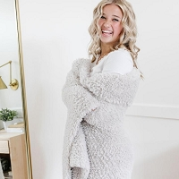 Saranoni Knit Faux Fur Throw